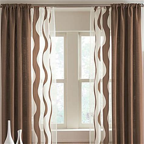 rod pocket curtains drapery panels and green and brown on