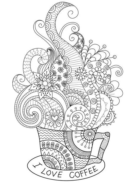 You can color them with your kids or save them just for yourself. coffee cup zentangle coloring page | Zentangle Coloring pages | Pinterest | Coffee cup, Adult ...