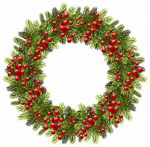 Green Christmas Pine Wreath PNG Clipart Image | Gallery ...