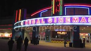 Regal Cinema at Night stock video footage Image of
