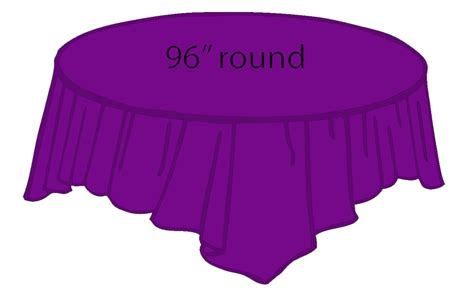 96 inch round table 96 quot round plastic tablecloth purple