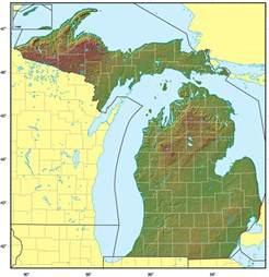 Michigan Satellite Map