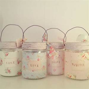 hand made by betsy blair home pretty jam jars decorated With what kind of paint to use on kitchen cabinets for tea lights candle holders