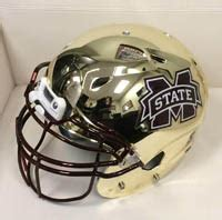 PHOTO: Mississippi State unveils new chrome helmets for ...