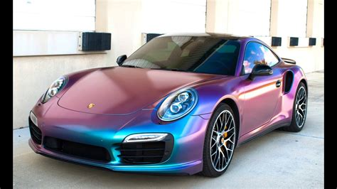 chagne color car color changing porsche