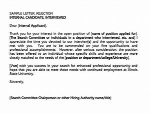 Good Qualities In An Employee Job Candidate Rejection Letter 36 Sample Letters
