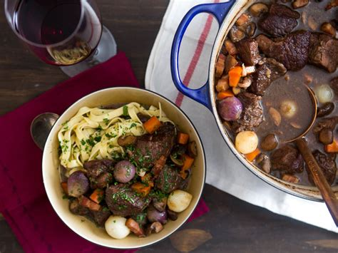 boeuf bourguignon beef stewed  red