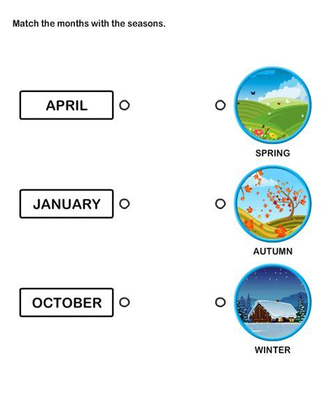 twelve months worksheets  kids kids learning
