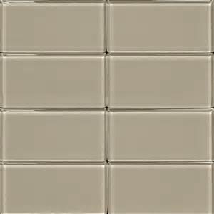 3x6 glass subway tile light gray
