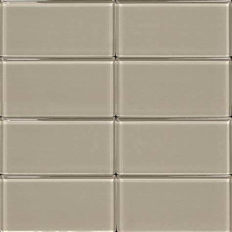 3x6 glass subway tile light gray
