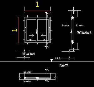 Aluminium Sliding Window DWG Detail for AutoCAD • Designs CAD