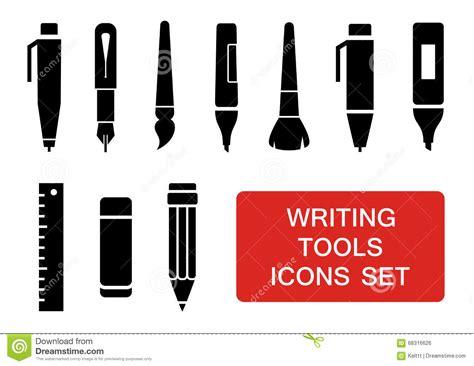 Writing Tools Set Stock Vector Illustration Of Artist 68316626