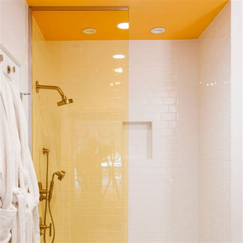 shower recessed shelves bathroom colour schemes ideal home