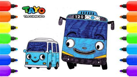 tayo   bus coloring pages bong bong tayo