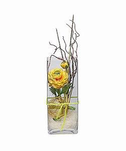 Deko Für Vasen : deko vase ranunkel gelb eckig 30cm jetzt bestellen bei valentins valentins blumenversand ~ Indierocktalk.com Haus und Dekorationen