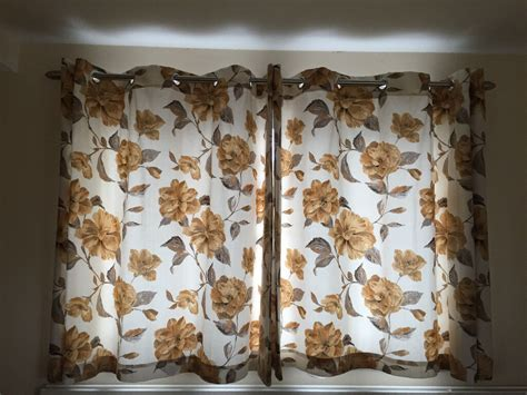 marks  spencer ready  curtains ring top cream brown