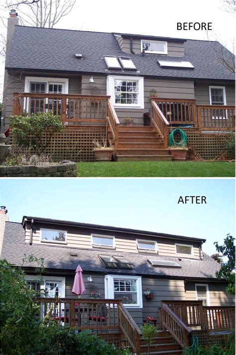 Cost To Add Shed Dormer by Before And After Of A 30 Foot Shed Dormer Addition We