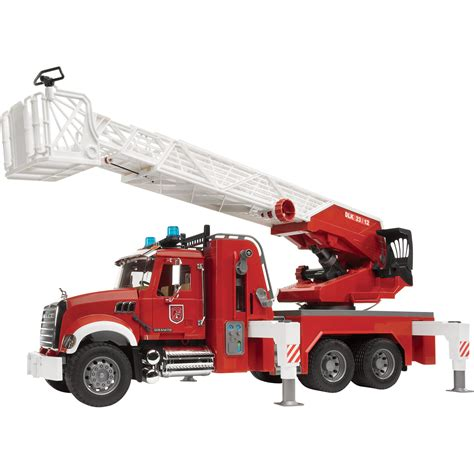Bruder Mack Granite Fire Engine With Water Pump Fire
