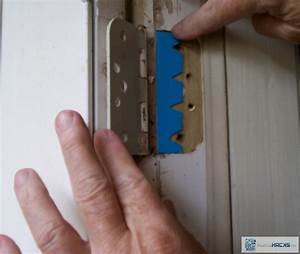 Straighten a Crooked Door with A Cardboard Shim for the