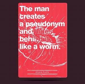 Sylvia Plath  Typographic collection on Behance