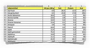 Kalorien Von Lebensmitteln Berechnen : datei kostenloser rechner f r kohlenhydrate fett eiwei kalorien ~ Themetempest.com Abrechnung