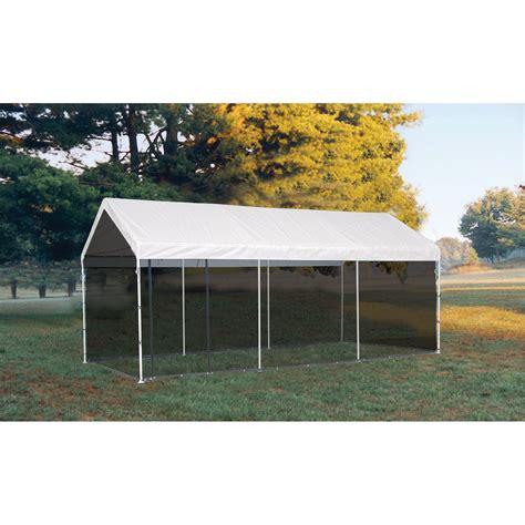 shelterlogic maxap outdoor canopy tent  screen house kit ft  ft model