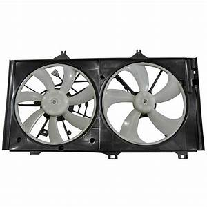 Dual Radiator Cooling Fan Assembly For Toyota Venza Avalon