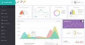20 free premium bootstrap admin dashboard templates envato With jquery dashboard template