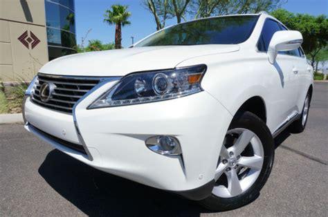 pearl white lexus rx suv  owner az car