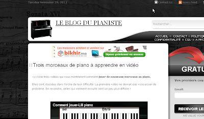 fond decran   sites pour apprendre le piano en