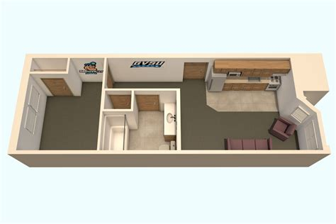 one two bedroom house plans secchia housing students grand valley state
