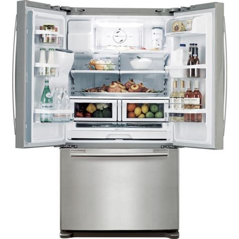 samsung rfaers  cu ft french door refrigerator  twin cooling system power freeze ez