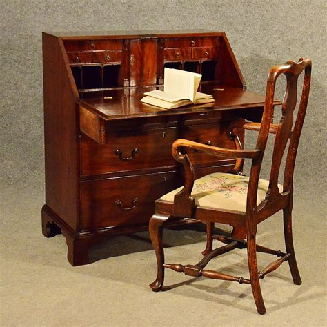 vintage bureau antique mahogany bureau writing study desk antiques