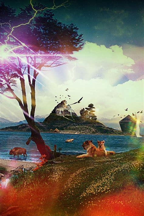 fantasy landscape apple iphone wallpapers   hd