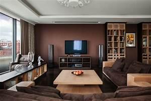 Braune Möbel Wandfarbe : einrichten mit farben braune m bel und w nde f r erdverbundenheit ~ Markanthonyermac.com Haus und Dekorationen