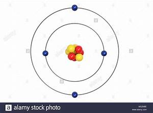 Beryllium Atom Bohr Model With Proton  Neutron And