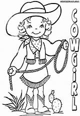 Cowgirl Coloring Template Coloringway sketch template