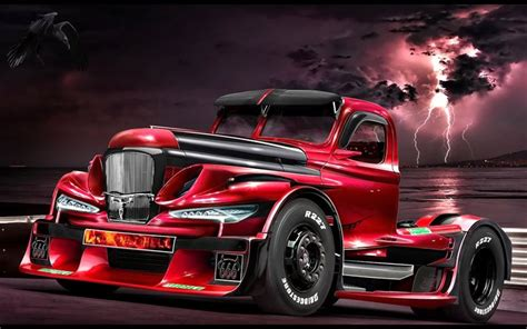 Download Wallpapers Tuning, Raven, Truck, Zil 157, Art For