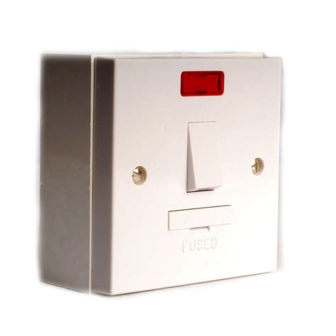 bathroom extractor fans surface mounted fused spur switch