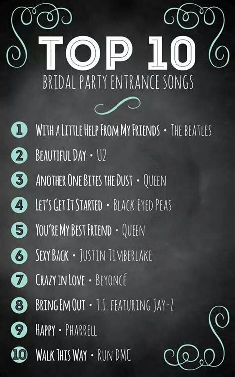 music ideas for wedding party entrance wedding planning