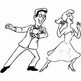 Coloring Dancing Pages Dance Ballroom Couple Printable Festival Getcolorings sketch template