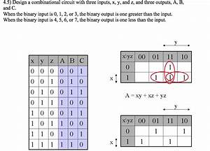 Combinational Logic Design  Truth Table And K-map Question