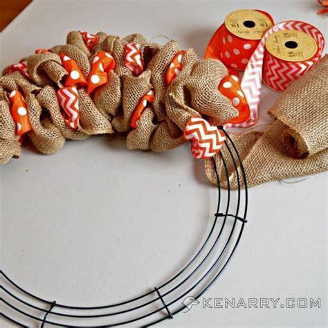 Best 25+ Fall Ribbon Wreath Ideas On Pinterest  Burlap Ribbon Wreaths, Diy Burlap Wreath And
