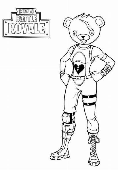 Fortnite Coloring Pages Battle Royale Printable Pdf