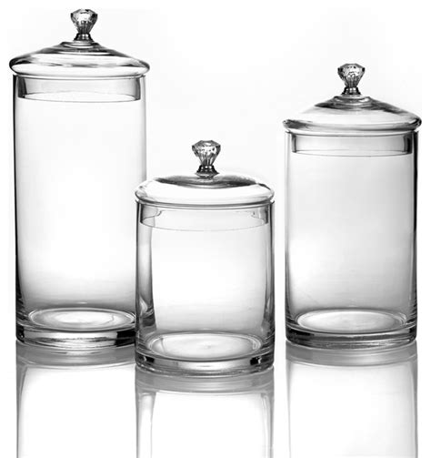 glass kitchen canisters sets glass canisters with silver knobs small set of 3