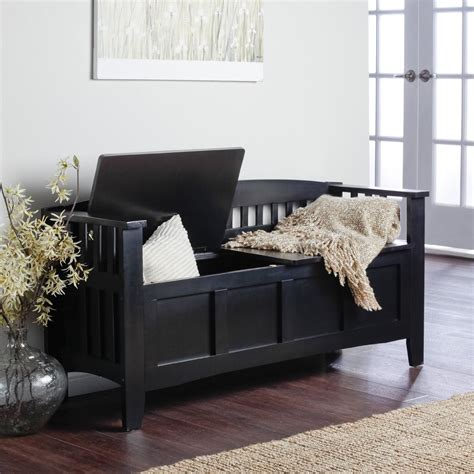 Black Bench Seat With Storage