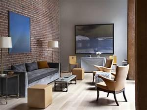 Mur Brique Salon : loft san francisco salon avec un mur en briques rouges ~ Zukunftsfamilie.com Idées de Décoration