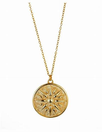 Medallion Gold Sun Necklaces Necklace Jewelry Plated