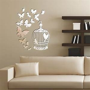 Wall art designs living room butterfly silver