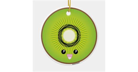 kawaii kiwi ceramic ornament zazzlecom